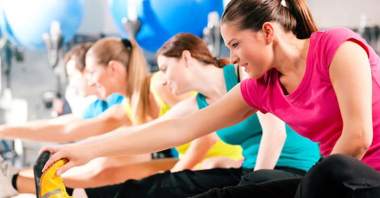 Women exercising to improve blood circulation