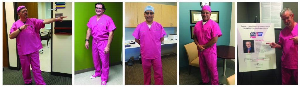 Vein Clinics of America Doctors Participating in Real Men Wear Pink Month