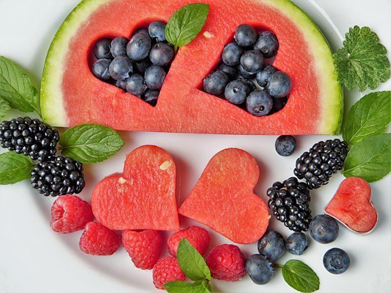 cut raw fruit