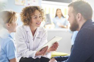 vein doctor meeting with patients